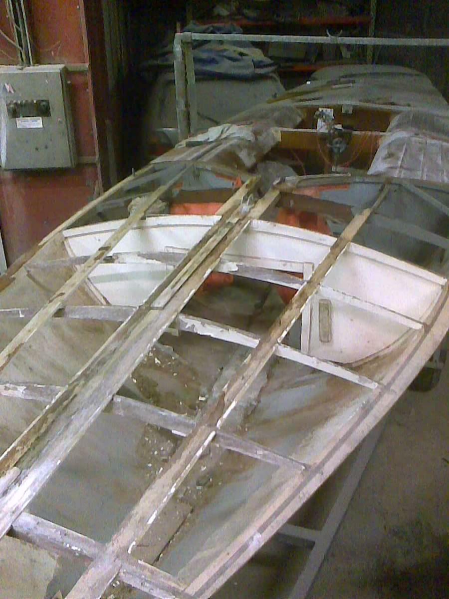 Wooden boat refurbishment Flying 15 Painting Repairs