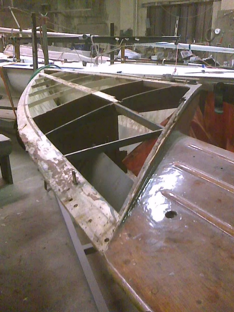Flying 15 FF wooden boat refurbishment Northern Ireland