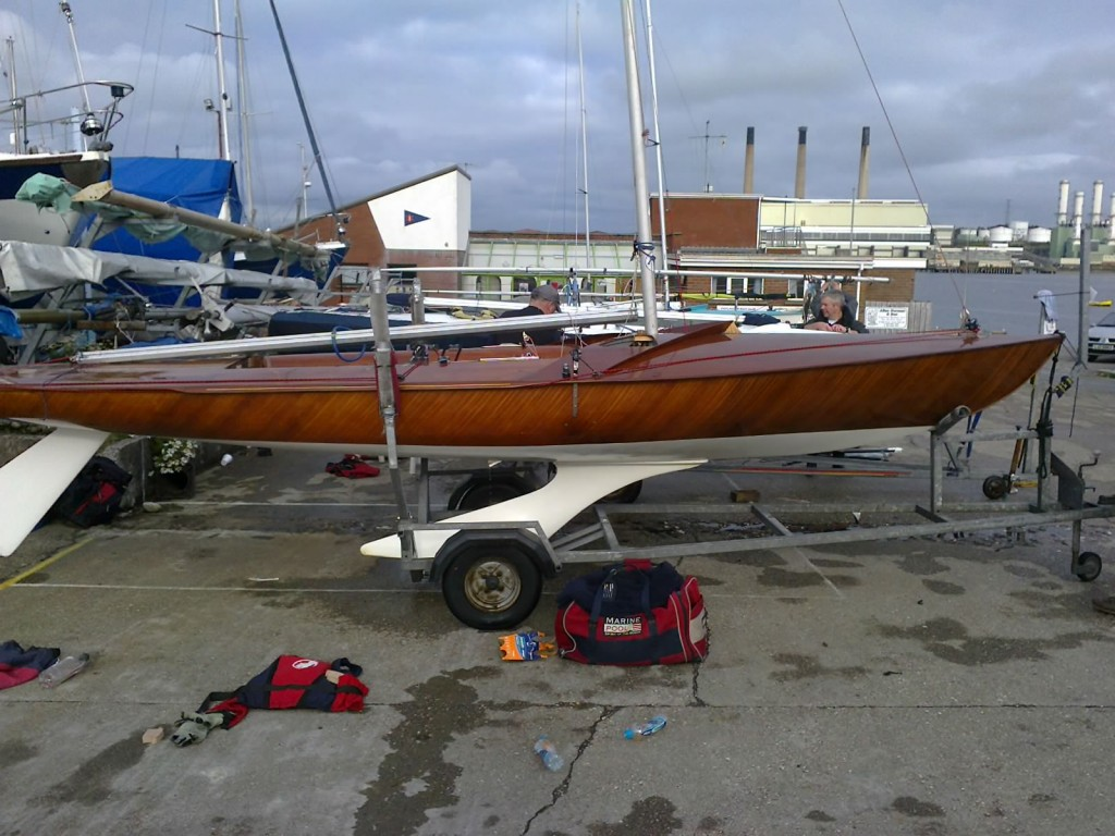 Flying 15 FF Wood Yacht Restoration 7