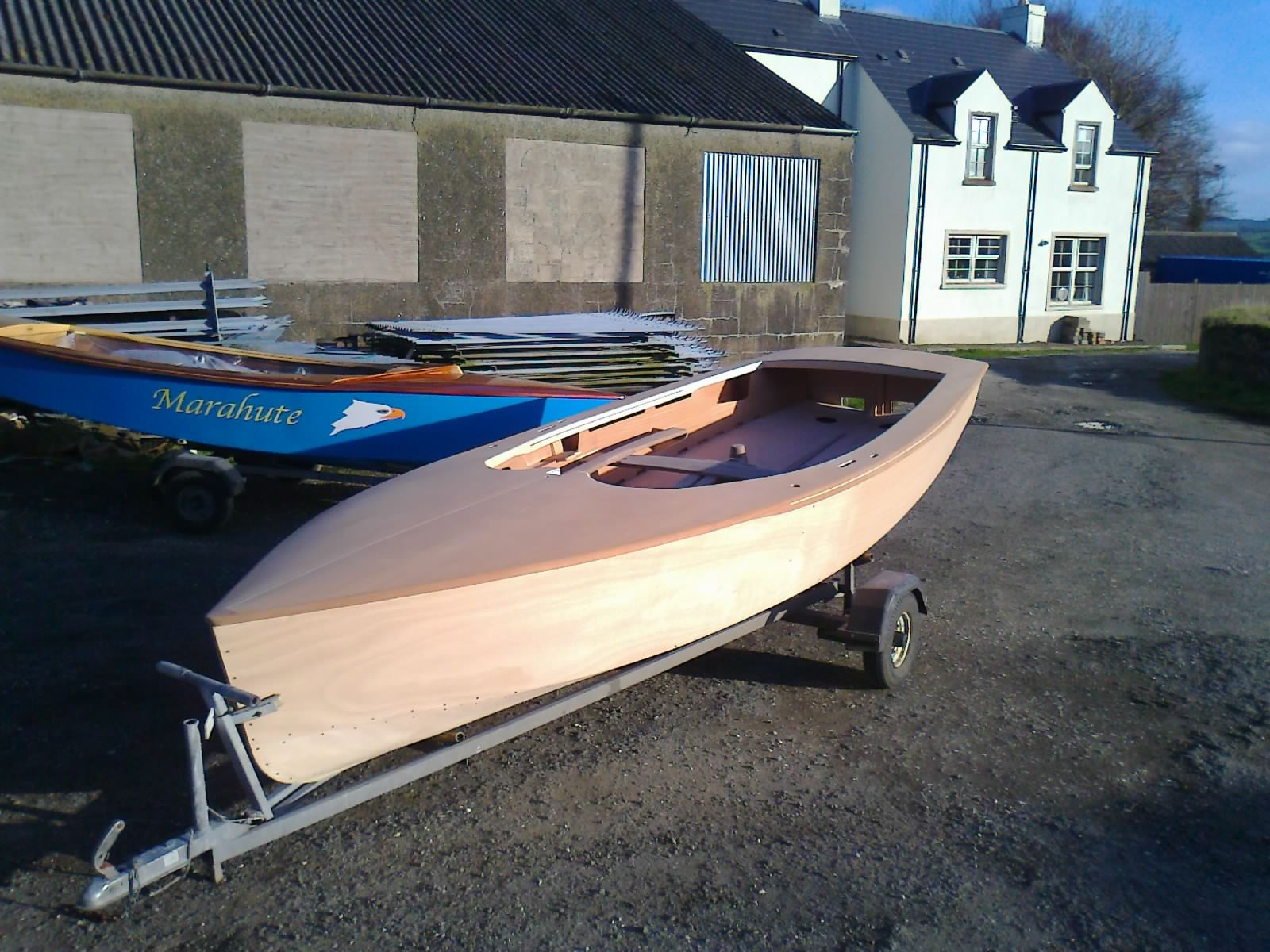 Wooden GP14 Racing Dinghy painting from bare wood to ...